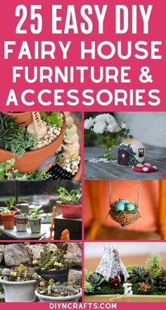 Fairy Garden Pots, Fairy Garden Furniture, Magic Garden, Fairy Garden Houses, Shade Garden, House Furniture, Fairies Garden, Gnome Garden, Garden Beds