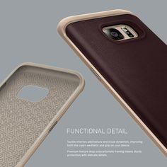 Caseology® Galaxy S7 Edge case [Envoy Series] [Leather Cherry Oak] #cherry #edge #leather_case