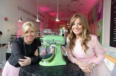 Georgetown Cupcake Sister-Owners Sophie & Katherine at Georgetown Cupcake Newbury Grand Opening Reception