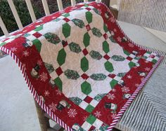 Quilted Christmas Table Topper Wall Hanging by MadeInTheCove