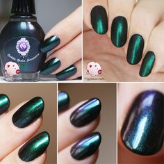 I'm so excited to show you Starling, a gorgeous multichrome from Gothic Gala Lacquers! It's Samantha's birthday today, and it's also a year ago that the shop was opened! So check out the review!