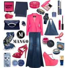 """night pink"" by hannahsweety on Polyvore"