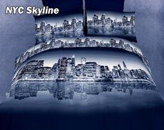 NYC Skyline Duvet Cover Set by Dolce Mela ....New York, I love it!!