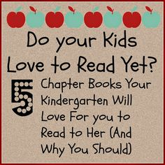 Preschool Activity Ideas | Toddler Activity Ideas | Mommy With Selective Memory: 5 Great Books to Motivate Kindergarteners to Love Reading