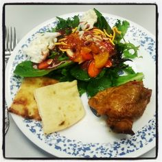 <3 Thai Chicken with Naan and Salad! <3