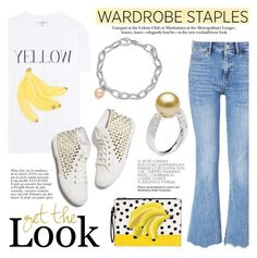 """""""Wardrobe Staple: White T-Shirt"""" by pearlparadise ❤ liked on Polyvore featuring Ganni, MiH and Anja"""