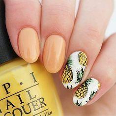 217 отметок «Нравится», 2 комментариев — Creative shop (@creativeshopstamping) в Instagram: «@Regrann from @ronjaolivias -  For these pineapple nails I used Lumene Early Morning - Aamuvalo,…»