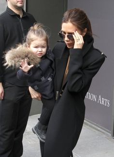 Victoria and Harper Beckham //