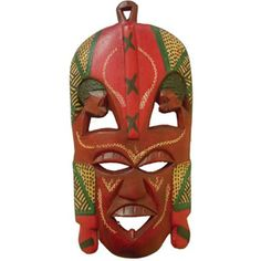 "Enjoy a true piece of African heritage! Majestic African Maasai masks give a creative touch to any home. The Maasai people pass these masks down from generation to generation to honor their ancestors. When doing this, it is believed that the ancestors will pass down blessings to the owner. Sure to add mystery and enjoyment to any home! 11-12""tall. Made in Kenya. A-WC601 Buy Here: africaimports.com"