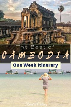 This one week Cambodia itinerary highlights only the best attractions and sights. This country is surprising and shocking at the same time. Check this out and start planning your trip to Cambodia Asia travel guide - must things to do in Asia Siem Reap, Cool Places To Visit, Places To Travel, Travel Destinations, Places To Go, Cambodia Itinerary, Cambodia Travel, Cambodia Beaches, Tonle Sap