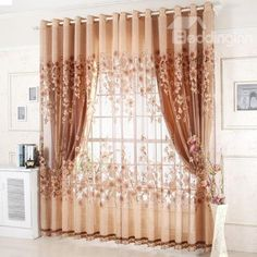 Readymade garden curtain, blackout coffee cortinas windows drapes + volie sheer curtains for bedroom lot) Living Room Windows, Living Room Bedroom, Bedroom Decor, Thick Curtains, Cheap Curtains, Luxury Curtains, Home Curtains, Curtains Living, Curtain For Door Window