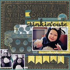 STINKIN CUTE SCRAPBOOK PAGE