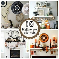 10 best halloween mantels. Great inspiration.