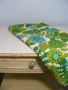 Vintage 60s Fabric MOD FLORAL Cotton Terry by violetsandgrace, $28.00