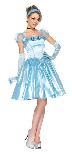 Disney Costumes Cinderella Classic Adult Costume Lg - Cinderella Classic Adult Costume Lg : Pretty blue satin knee-length dress includes black choker and blue headband. Gloves not included. Cinderella Halloween Costume, Fairy Halloween Costumes, Adult Costumes, Costumes For Women, Halloween Ideas, Disney Halloween, 1950s Costumes, Halloween Ball, Halloween Clothes