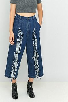 Perks And Mini Denim Tie-Up Jeans - Urban Outfitters