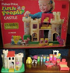 Fisher Price Little People Castle. HOURS of fun, my favorite childhood toy. 1970s Toys, Retro Toys, Vintage Toys, Fisher Price Toys, Vintage Fisher Price, 90s Childhood, Childhood Memories, Little Tykes, Old School Toys