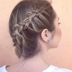 Penteado pra aguentar o calor de hoje 💕😍 To amando meu cabelo novo, até dá pra ver a trança hahahaha #hair #hairstyle #haircolor #blonde #summer #boadeblush #penteado #tranca #maniadetranca
