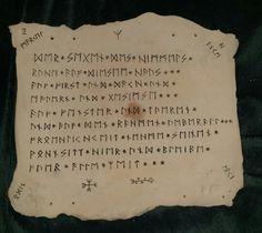 Haussegen in Runenschrift