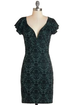 Pinot Noir, Please Dress in Evergreen. #green #modcloth  I am in love with this print, it's fantastic