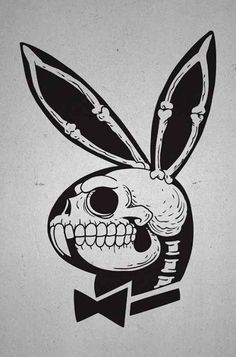 Playboy, bunny, and skull image
