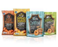 Pretzel Pieces - Packaging designed by Design Resource Center http://www.drcchicago.com/