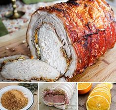 Porchetta: A 3 pound pork loin wrapped in a 5 pound piece of skin-on pork belly. My go-to food when I was staying in Rome Porchetta Recipes, Pork Recipes, Cooking Recipes, Pork Ham, Pork Roast, Pork Loin, Porchetta Roast, Charcuterie, Italian Street Food