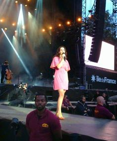 Lana Del Rey performing at Rock En Seine Festival in Paris #LDR