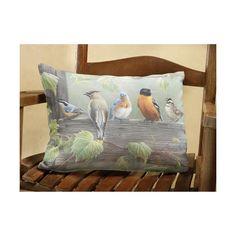 Backyard Birds Outdoor Pillow at Bas Bleu   UG4112