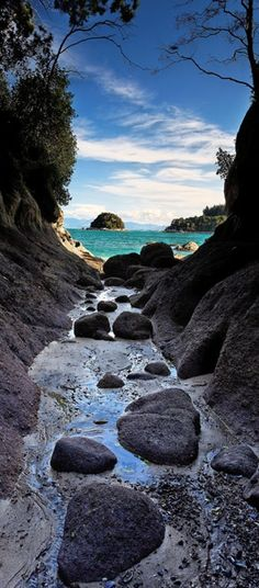 Abel Tasman National Park near Kaiteriteri, New Zealand • photo: Yves Emprin on TrekEarth