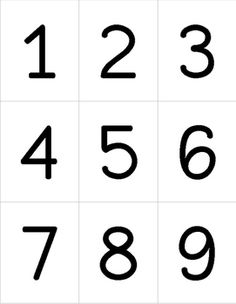 Printables For Numbers 1 10 With Of Free Number Worksheets