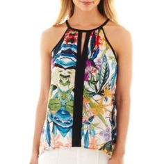 nicole by Nicole Miller® Floral Print Tank Top  found at @JCPenney
