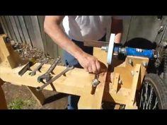 Wood Turn Lathe: Pedal Powered - YouTube