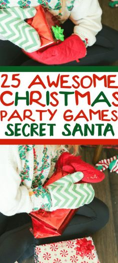 25 funny Christmas party games that are great for adults, for groups, for teens, and even for kids! Try them at the office for a work party, at school for a class party, or even at an ugly sweater party! I can't wait to try these for family night this Christmas season! Funny Christmas Party Games, Minute To Win It Games, Ugly Sweater Party, Work Party, Family Night, Of Wallpaper, Secret Santa, Holiday Parties, Pretty Outfits