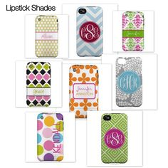 monogrammed iPhone cases