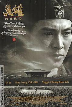 Hero Movie poster 2002 Jet Li director Zhang Yimou frame on your wall! Hero Movie, Movie Tv, Hero Jet Li, Hero Poster, Actors, Dramas, Films, Movie Posters, Posters