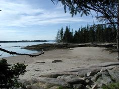 sand bar at Barred Island, Deer Isle, Maine