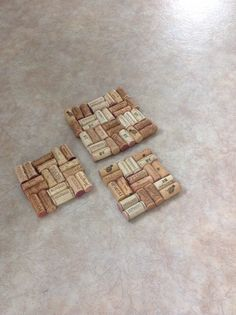 Wine cork hot pads! Paint them a colour to match your kitchen too