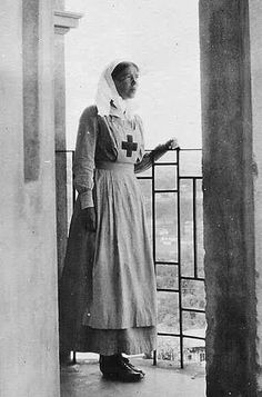 "The Grand Duchess Olga Alexandrovna Romanova of Russia as a Red Cross nurse during WWl. ""AL"""
