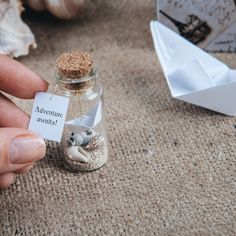 New in our shop! Origami boat Adventure awaits Message in a bottle Tiny origami ship Travelers gift Funny friend...  https://www.etsy.com/listing/462031295/origami-boat-adventure-awaits-message-in?utm_campaign=crowdfire&utm_content=crowdfire&utm_medium=social&utm_source=pinterest