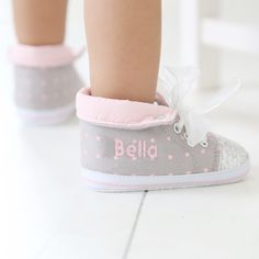 Girls Glitter High-Top Trainers | Baby Shoes Range | My 1st Years