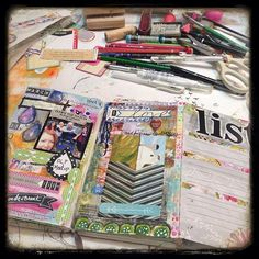 Working on my week twelve planner/journal pages. | Flickr - Photo Sharing!