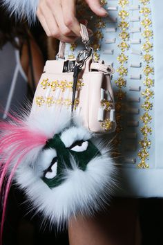 The monsters are back at Fendi. #SS15. I want one!!!!!