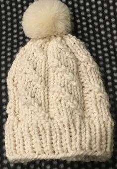 Free Knitting Pattern: Solu Beanie Hat – Beccie B Creative Beanie Knitting Patterns Free, Beanie Pattern Free, Loom Knitting, Free Knitting, Knitting Hats, Knitting Machine, Easy Knit Hat, Knitted Hats Kids, Cable Knit Hat