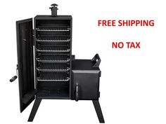 Grills and Smokers Charcoal Vertical Offset BBQ Barbeque Cooker Gourmet Patio #DynaGlo