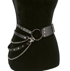 Cosplay Women's Sword Belt Body Harness Grunge Outfits, Gothic Outfits, Mode Emo, Sword Belt, Women Accessories, Fashion Accessories, Mode Grunge, Estilo Grunge, Leder Outfits