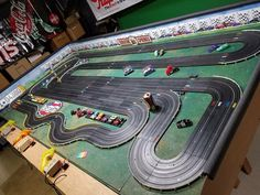 Pin by willy musgrave on ho slot car tracks Ho Slot Cars, Slot Car Racing, Slot Car Tracks, Track Pictures, Funny Pictures, Arcade, Las Vegas, Slot Machine Cake, Cars 1