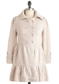 Relax But Not Least Cardigan - Cream, Solid, Buttons, Casual, A-line, Long Sleeve, Double Breasted, Button Down, Collared