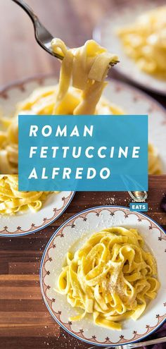 This is how you make fettuccine Alfredo like the Romans. It's an incredibly easy and quick dish with only a few key ingredients: pasta, butter, and cheese. The result is a pasta that's impress Fettuccine Alfredo, Alfredo Sauce, Recipe Alfredo, Salsa Alfredo Receta, Molho Alfredo, Sauce Recipes, Pasta Recipes, How To Cook Pasta, Pastries