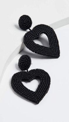 Heart Shaped Earrings, Cluster Earrings, Beaded Earrings, Earrings Handmade, Beaded Jewelry, Jewelry Branding, Statement Jewelry, Beautiful Earrings, Bridal Jewelry